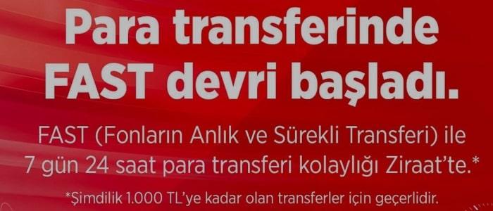 Ziraat Bankası Kolay Adres Oluşturma (Resimli FAST Transferi)