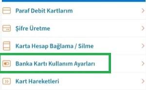 Halkbank internet alışverişine açma kart kullanım ayarları