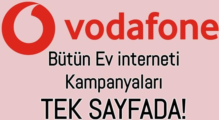 Vodafone Ev interneti Paketleri 2021 (Güncel Mayıs Kampanyaları)