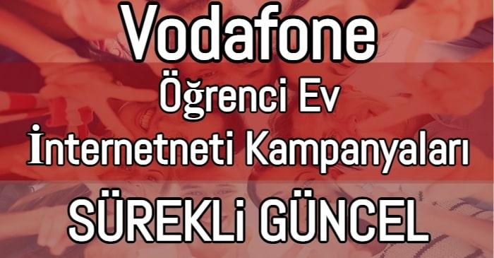 Vodafone Öğrenci Ev interneti Paketleri 2021 (Mart Kampanyaları)