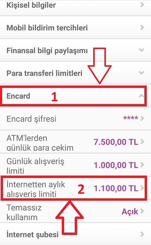 Enpara banka kartını internet alışverişine açma Üçüncü adım 2021