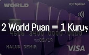 En Çok Puan Kazandıran Kredi Kartları Yapı Kredi World Puan 2021