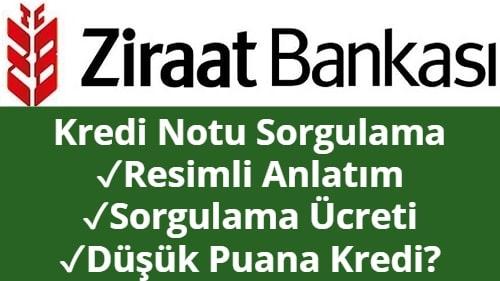 Ziraat Bankası Kredi Notu Sorgulama (Anında Öğrenme)