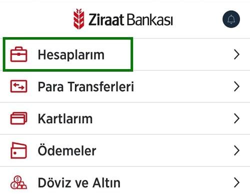 Ziraat Bankası Vadeli Hesap Açma ilk adım