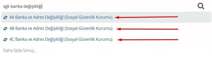 """e-devlet emekli maaşı taşıma ilk adımda """"sgk banka değişikliği"""" yazmanız gerekiyor."""