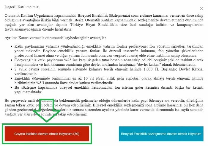 Ziraat Bankası bes cayma talebi ve iptal işlemi son aşama