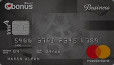 Garanti Bankası Bonus Business Ticari kredi kartı 14 adet