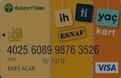 Kuveyt Türk Esnafa Ticari Kredi Kartı 2021