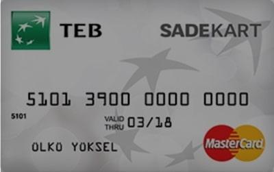 TEB sade kredi kartı özellikleri ve başvurusu
