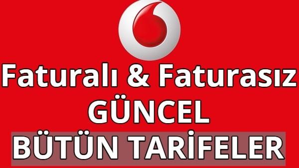 Vodafone İnternet Paketleri 2021 (Faturalı, Faturasız, Red, Ek Paketler)