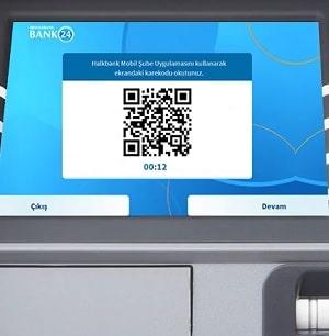 Halkbank ATM Karekod Onayı