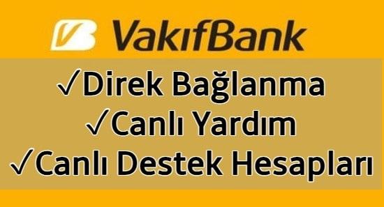 Vakıfbank Müşteri Hizmetlerine Direk Bağlanma 2021 (CANLI)